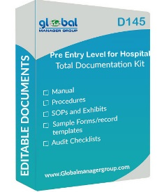 Pre Entry Level for Hospital Accreditation Documents