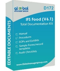 IFS Food version 6.1 Documents