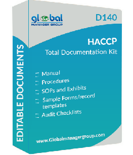 HACCP Documents Manual, Procedures, Audit Checklist in English