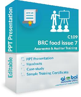 BRC Food Issue 7 training ppt presentation